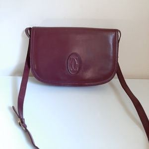 Cartier Vintage Bag 50/60's Leather Burgundy